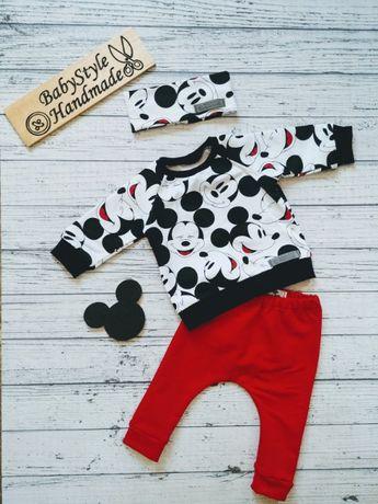 Dres bluza bluzka spodnie leginsy HANDMADE dla dziecka MYSZKA MIKI