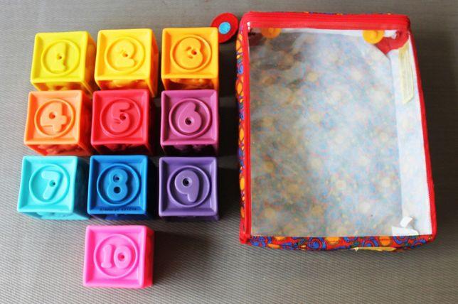 Pack de 10 blocos de borracha coloridos para construção com 60 imagens