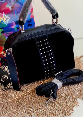 Элегантная сумка Натур. замш Новая