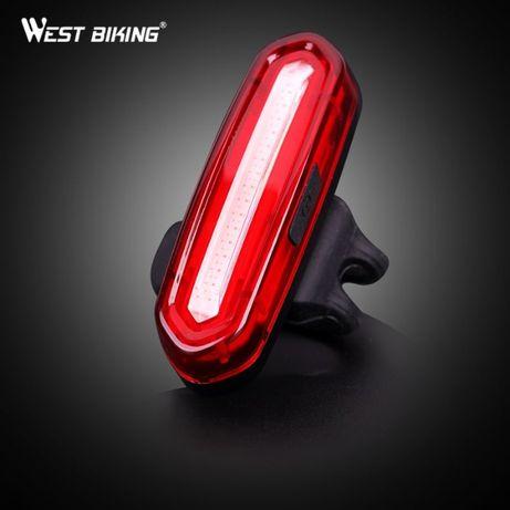 Задняя велофара фонарь West Biking 120 люмен, задний велофонарь, свет