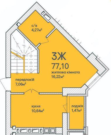 2-х уровневая квартира, рассрочка