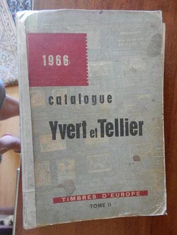 Каталог марок 1966 года Yvert & Tellier, Europa, том 2 Книга.