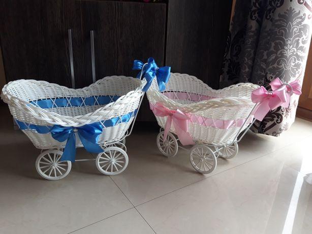Duże wózki oczepinowe wózek na oczepiny ślub wesele 42 cm na 32 cm