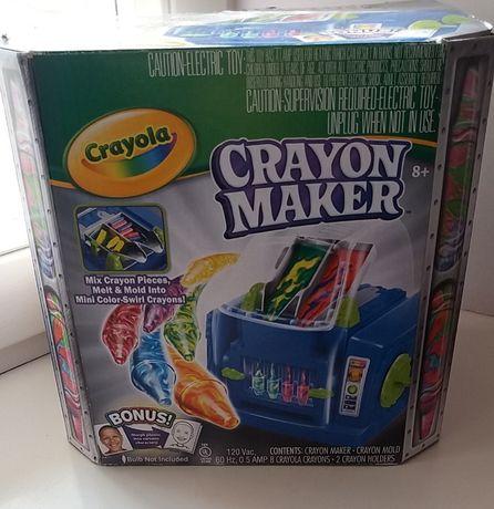 Новая Машина для литья цветн восковых карандашей Crayola Crayon Maker