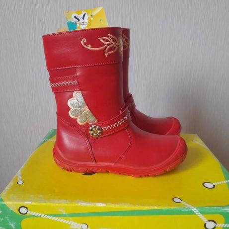 Сапоги сапожки чобітки зимние ТМ Шаговита новые 28 размер
