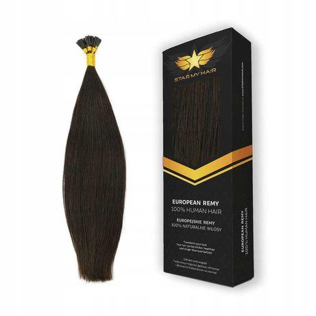 Pasemka Keratyna Ringi włosy naturalne europejskie 40cm 10x0,7