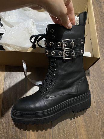 Ботинки зара 38 кожа новые