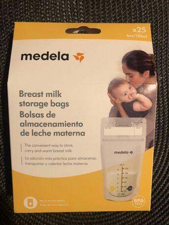 25 Sacos Medela de conservação de leite materno