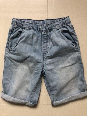 Spodenki jeans jasny Zara 140