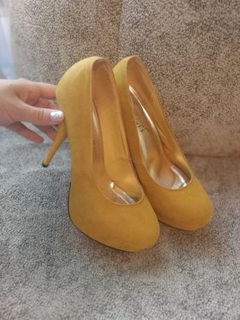 Туфли горчичного цвета, 37р.