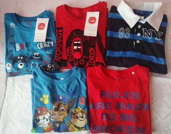 T-shirty chłopięce nowe z metkami