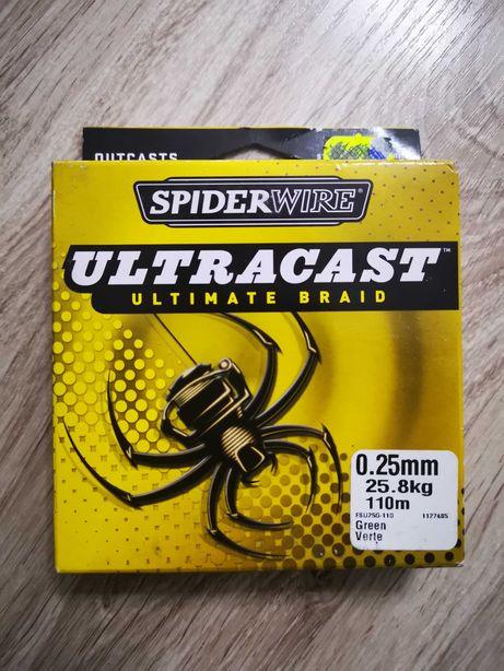Plecionka Spiderwire Ultracast 0,25 mm 110 m