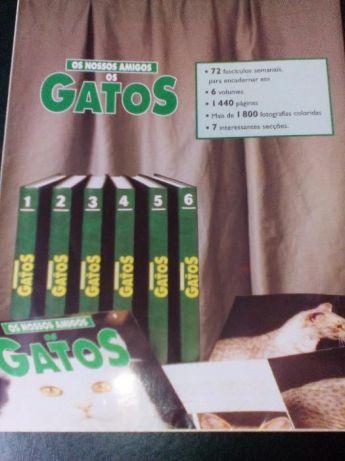 Enciclopédia Os Nossos Amigos Gatos, 6 Volumes.