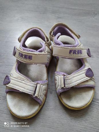 Sandały dziecięce rozmiar 26 biało fioletowe