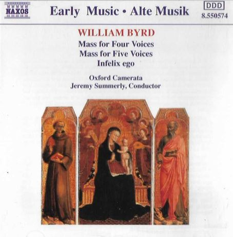 Mass for four voices/Mass for five voices/Infelis ego   William Byrd