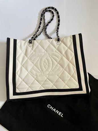 Chanel кожаная сумка шоппер оригинал