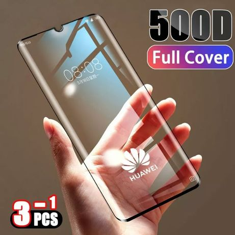 Szkło hartowane, full na Huawei P20 PRO, nowe, 500D