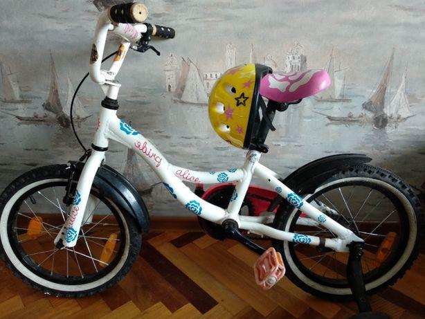 "Детский велосипед с Pride Alise 16"" c доп. колесами"