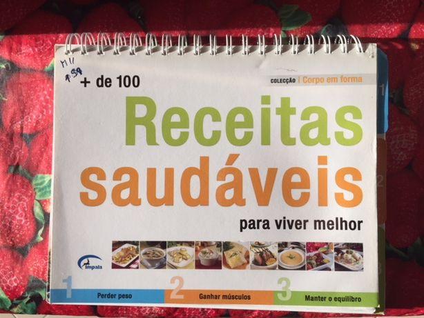 """Livro """"Receitas saudáveis para viver melhor"""""""