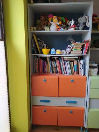 Meble dziecięce BRW zielono-pomarańczowo-szara witryna
