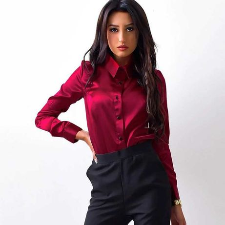 Блузка женская бордовая (новая)