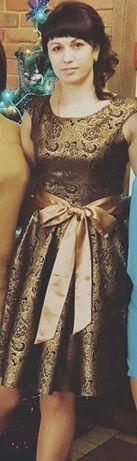 Сукня золотиста святкова «OMEGA» (платье нарядное)