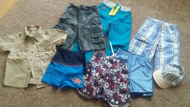 Szorty, bermudy, kąpielówki, spodnie/Next,Reebok/Cool Club/roz.110-128