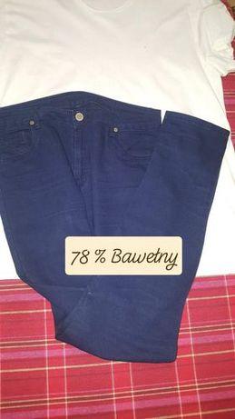 Damskie granatowe spodnie dżinsowe Modo