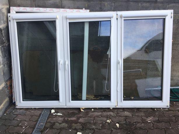 Okno używane 2360 x 1430 + roleta materiałowa