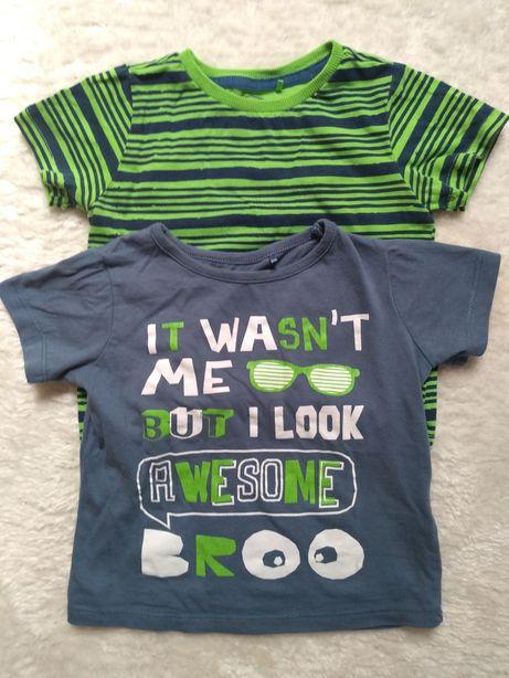 Koszulka chłopięca/T-shirt Cool Club r. 86 + komplet Pepco 2-pak