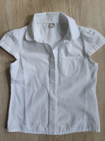 Biała bluzka koszula dziewczęca 7 lat