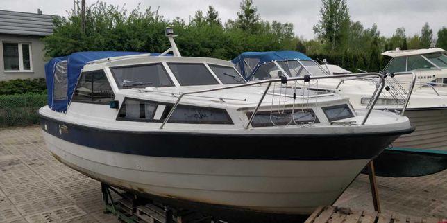 Łódź motorowa, kabinowa, Kragero 26, hausbot, houseboat, volvo penta