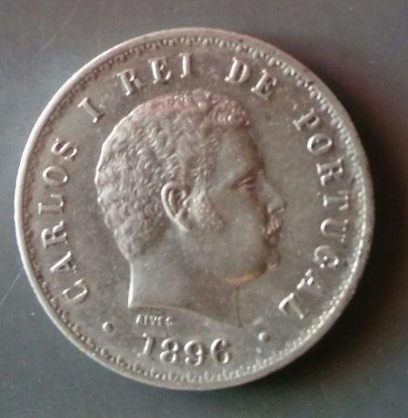 Moeda 500 reis 1896 Bela + q/soberba em prata