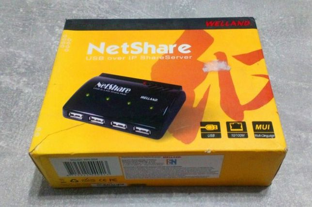 HUB USB Welland USB 2.0 LAN serwer 4-porty NH204
