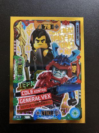 Karta lego ninjago seria 5 cole kontra generał vex