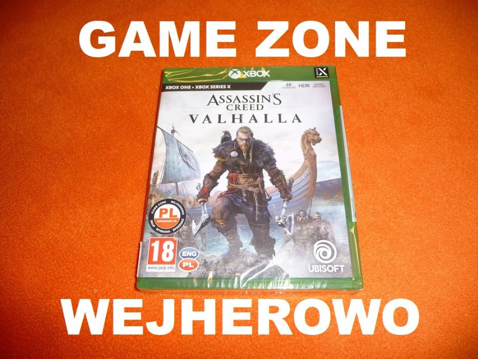 Assassin's Creed VALHALLA Xbox One + S + X = PŁYTA PL Wejherowo