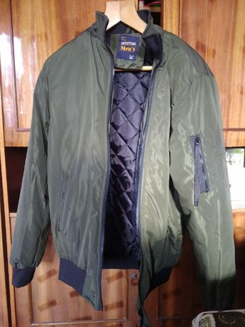 куртка бомбер цвет хаки