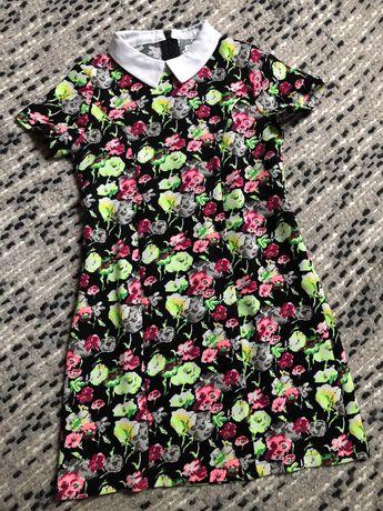 ZARA Guess sukienka neonowa 6-7 lat