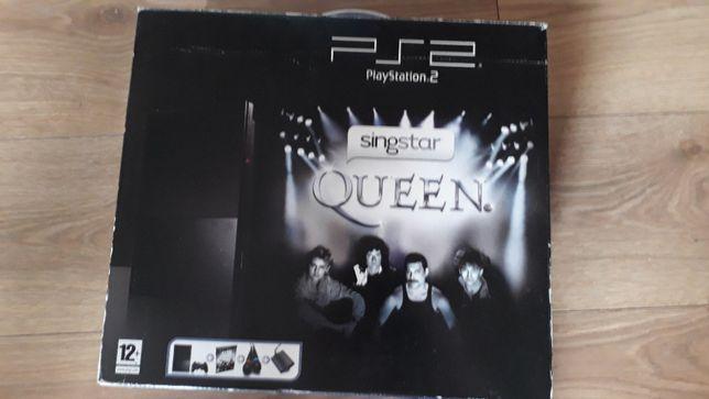 PlayStation 2 - karaoke ,,QUEEN'' + konsola 2 mikrofony 2 pady +3 gry