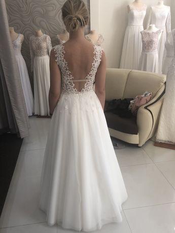 Suknia ślubna z salonu Estelle Stella roz 34 36 + DODATKI