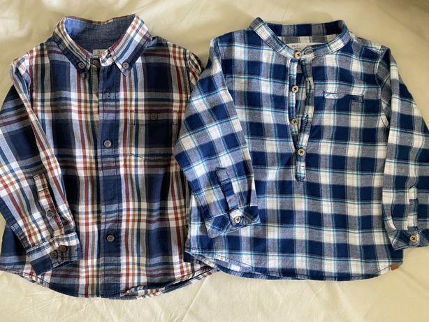 Camisas bebé - usadas uma vez