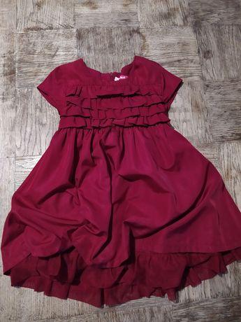 Sukienka bordo czerwień 104