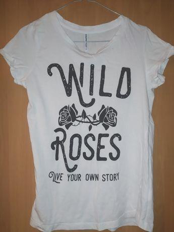 Biała koszulka Cropp M