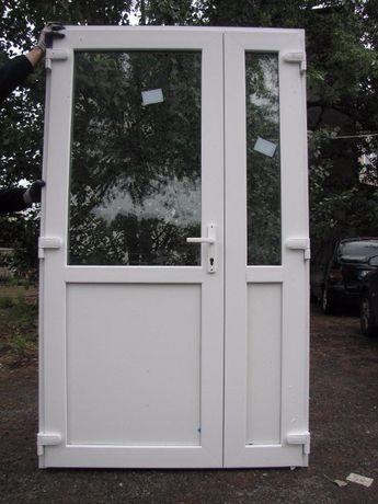 Drzwi PCV NOWE zewnętrzne wejściowe kolor białe 125x210