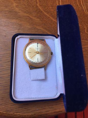 """Часы мужские """"POLJOT"""" позолоченные + подарок"""