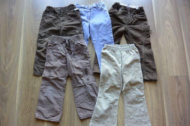 5 szt. - zestaw spodni r. 2-3 latka jesień-zima dla dziewczynki