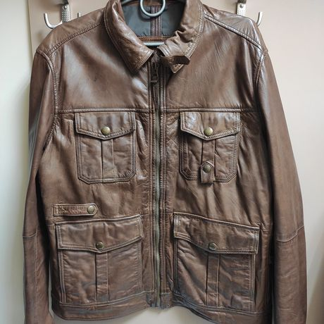 Куртка кожа Massimo Dutti