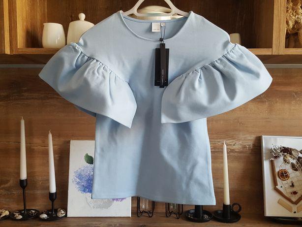 Lost Ink nowa błękitna modowa bluzka 34/XS