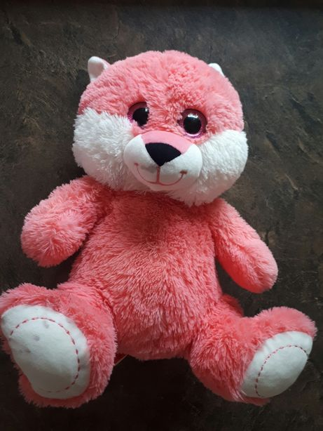 Różowy lis Smiki 45cm