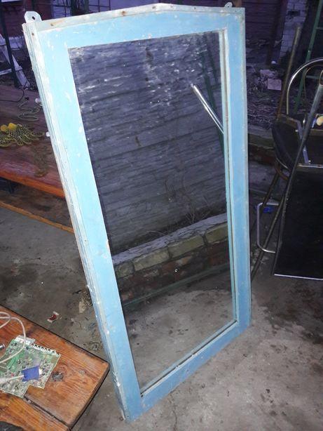 Зеркало барбер деревянной рамкой